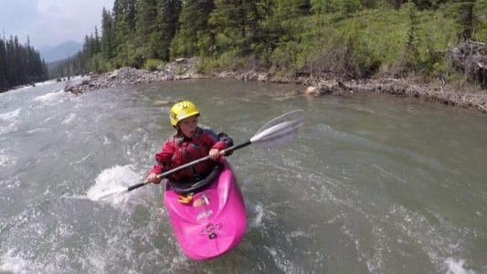 Kayaking the Kananaskis River in Alberta Canada