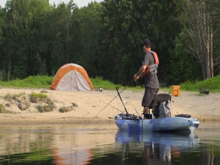 How to camp out of  your fishing kayak