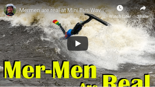 Mer-Men are real at Buseater wave, Ottawa river