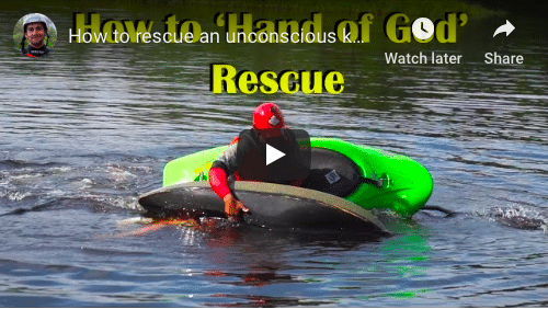 How to rescue an unconscious kayaker