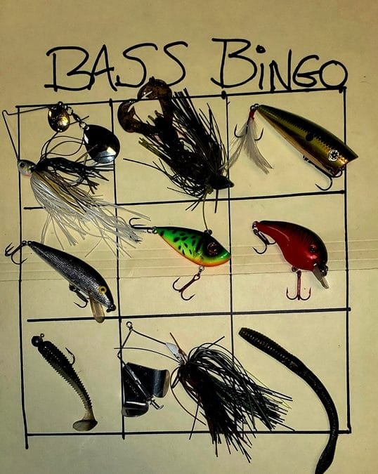 Kayak Fishing Bass Bingo