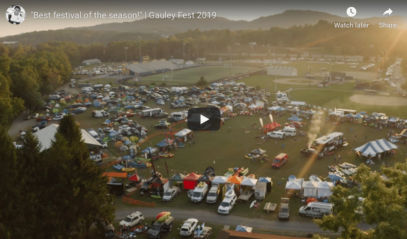 """Best festival of the season""; Gauley River Festival"