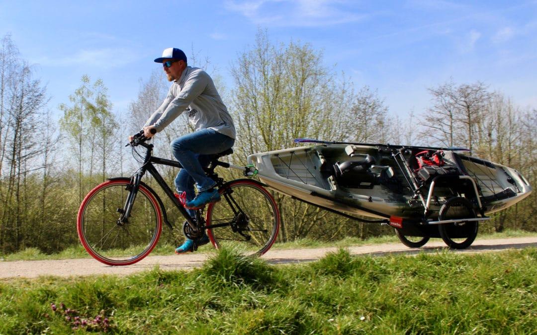 Kayak Fishing Bicycle Cart | Bike to the fishing spot!