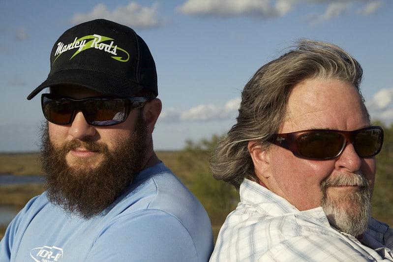Beard vs Hair Challenge episode of The Kayak Fishing Show with Jim Sammons