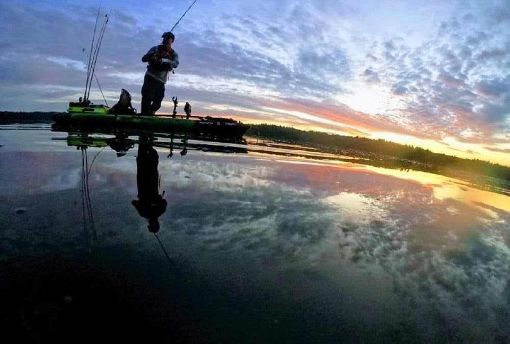 Lights out Kayak Bass Fishing