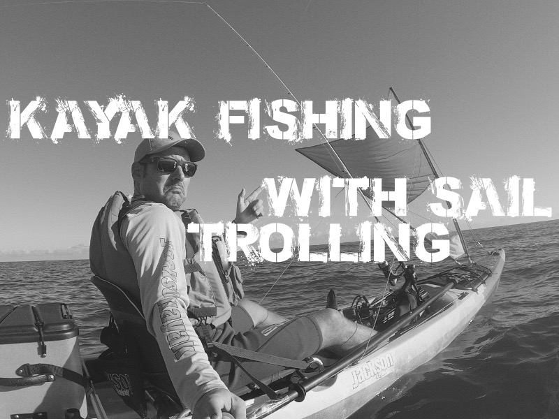 VIDEO-Kayak fishing with sail on Kraken