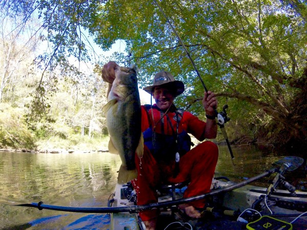 Collins River Big Spot on Green Pumpkin Hack Attack Jig