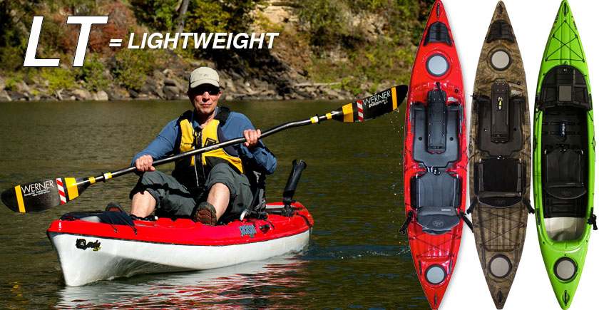The ALL NEW LT SERIES - lightweight fishing kayaks!