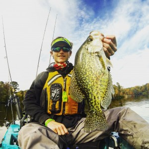 So Close! This crappie was half an inch short of trophy status.