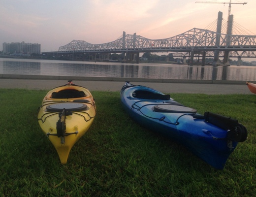 Louisville Hike, Bike & Paddle and Ohio River Lock Through!