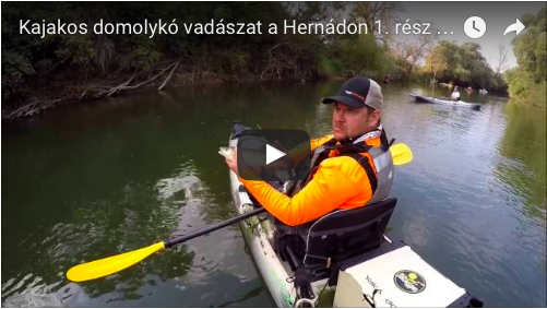 Kajakos domolykó vadászat a Hernádon 1. rész FullHD - Kayakfishing for chub on the river Hernád