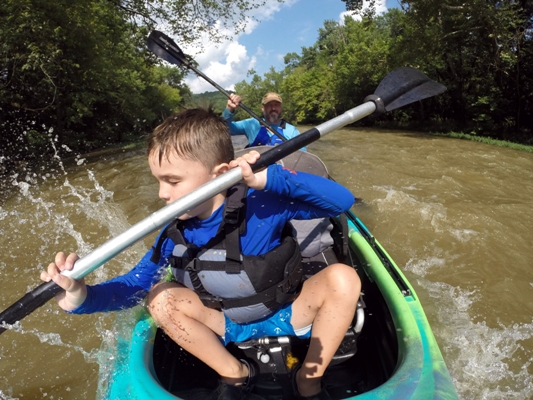 Elkhorn Creek Father and Son Kayaking Adventure & Expressions.