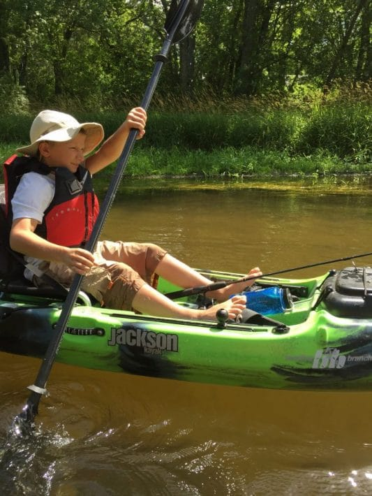 Paddling the Mecan river