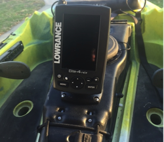Lowrance install on coosa hd for Fish finder on kayak