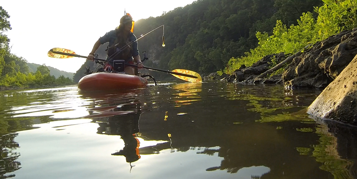 Paddling at Rock Island, creeping up on fish