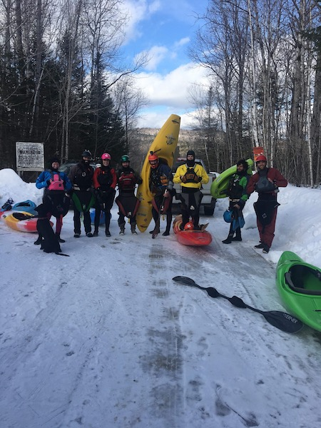 Winter paddling 2018 JK Antix in Maine, USA