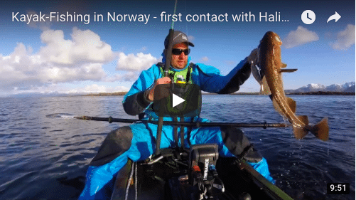 Kayak Fishing in Norway – first contact with Halibut!