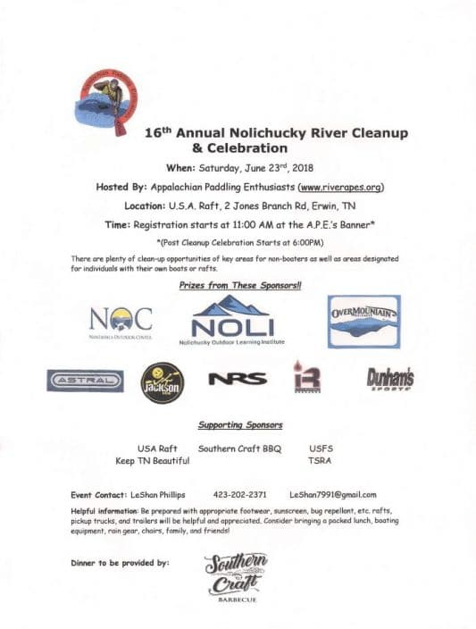 APE's Celebrate 16 Years of Cleaning Up the Nolichucky River