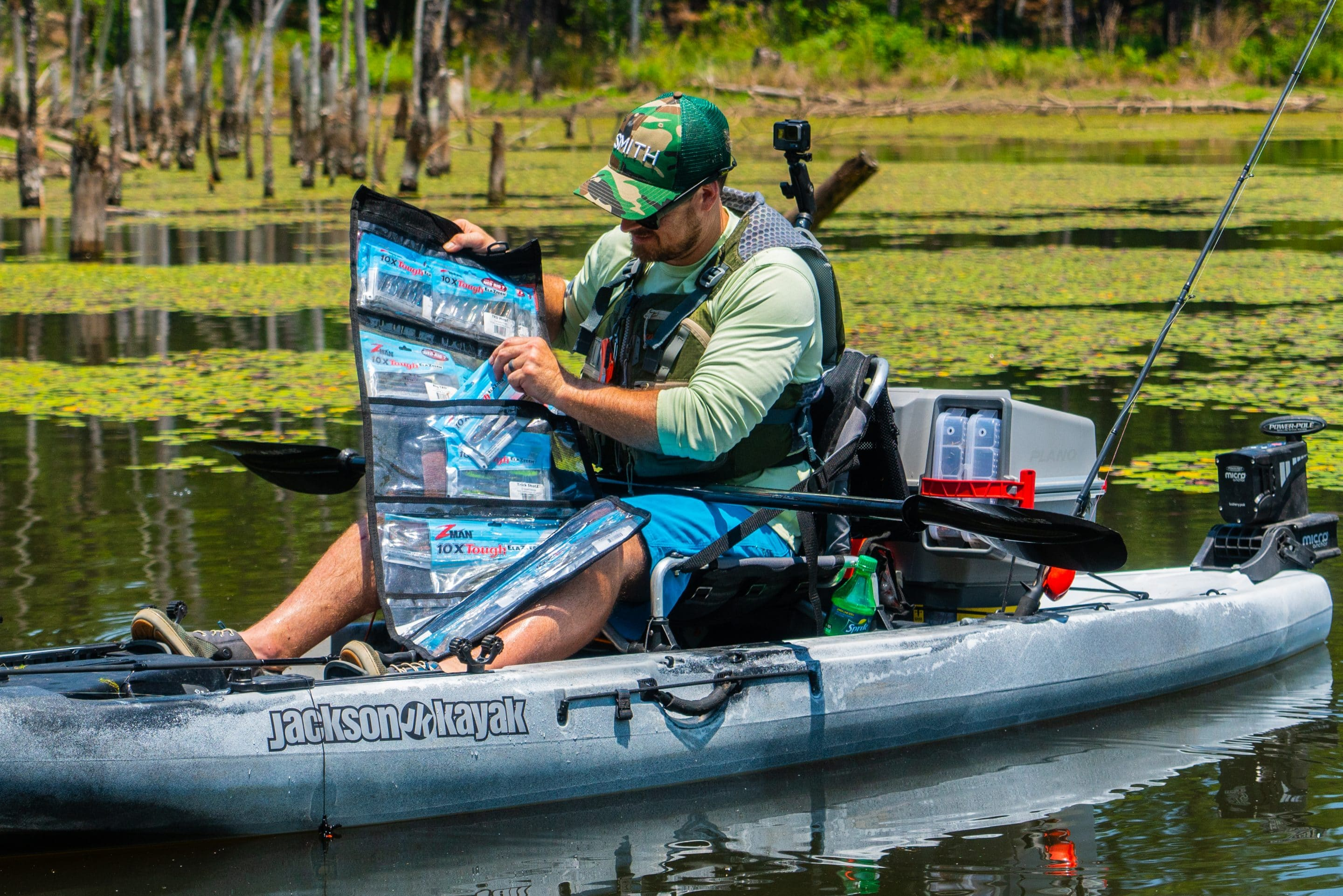 Organizing Soft Plastics for Kayak Fishing