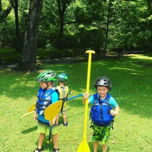 Raising little kayakers….