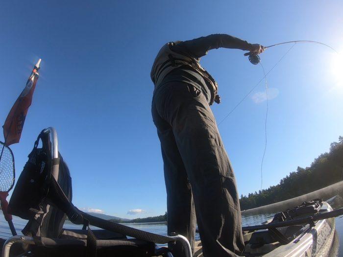 Fly Fishing from the Liska