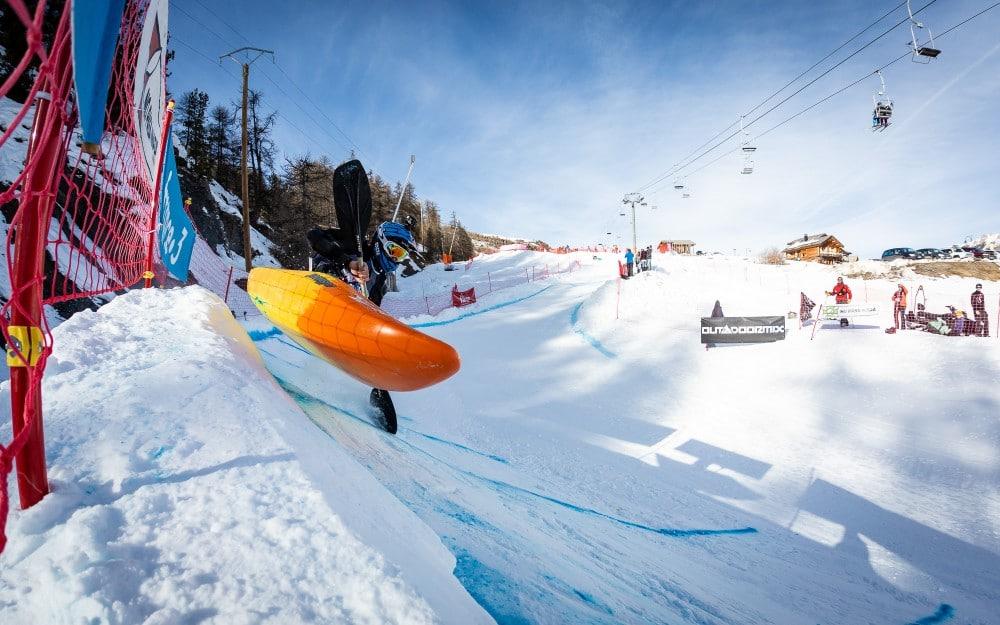 Kayaking in Snow | Winter Outdoormix SnowKayak 2020