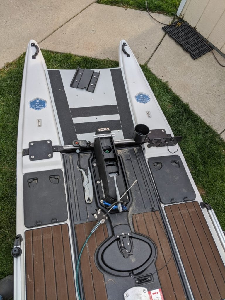 Adding  a Trolling motor to the Blue Sky Angler 360