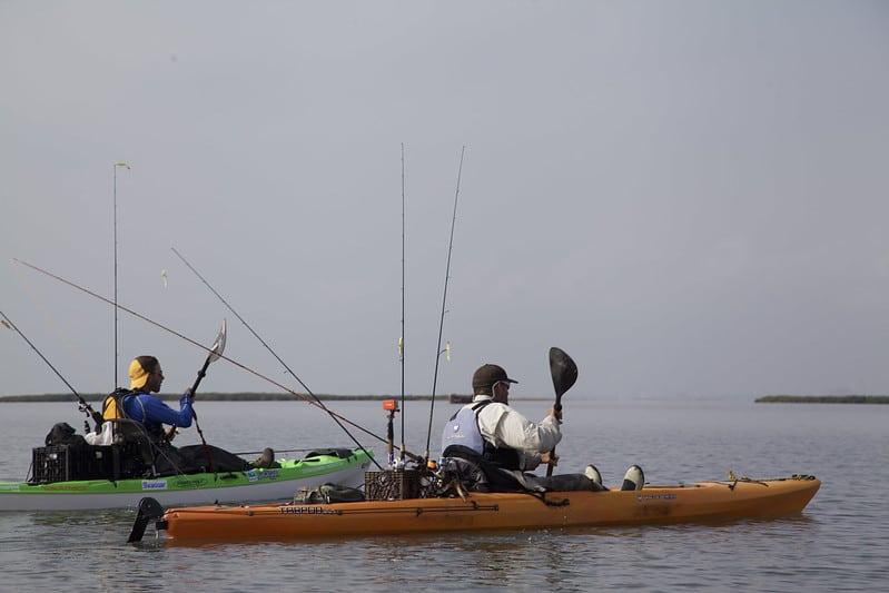 Kayak fishing Texas with Jeff Herman and Dean Slowride Thomas
