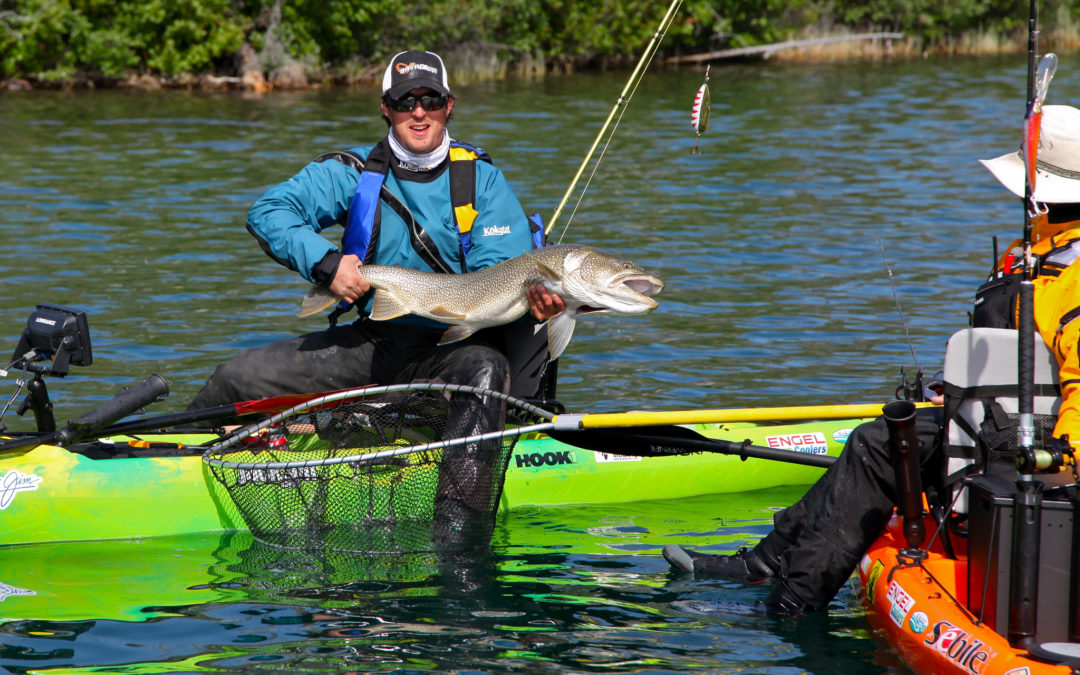 Kayak Fishing for Lake Trout in the Arctic Circle Pt 2