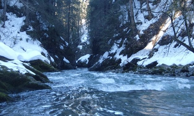 Paddling in the Swiss Alps…in February